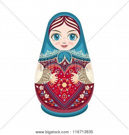 Matryoshka. Babushka doll.