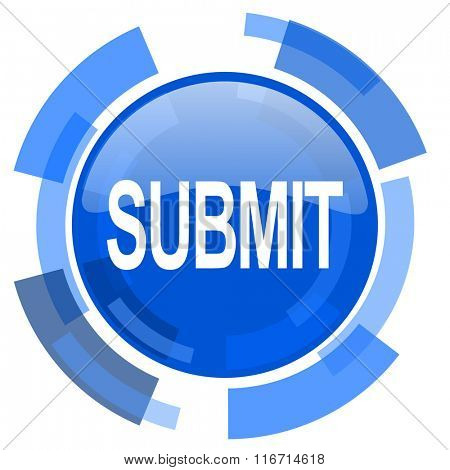 submit blue glossy circle modern web icon
