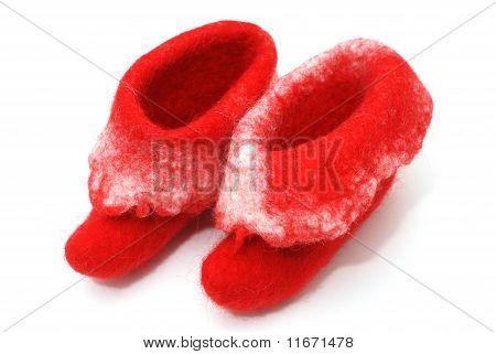 Rote Santa Stiefel