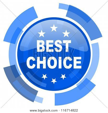 best choice blue glossy circle modern web icon