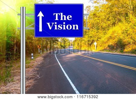 Road Sign concept Country Road and landscape
