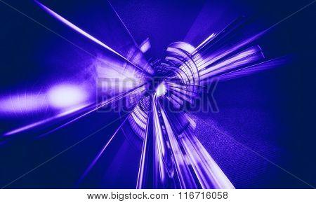 3D Purple Space