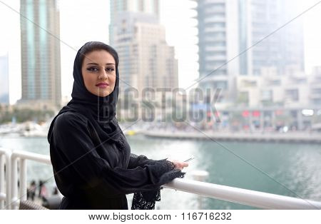 Young beautiful Emirati arab woman