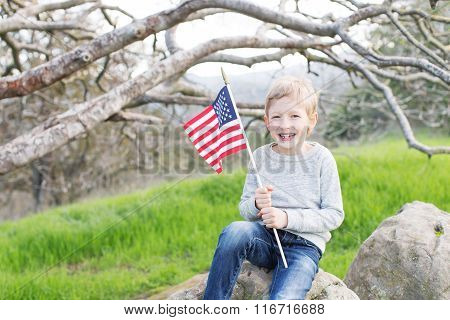 Kid Celebrating 4Th Of July