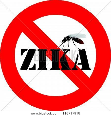zika virus and mosquito warning sign