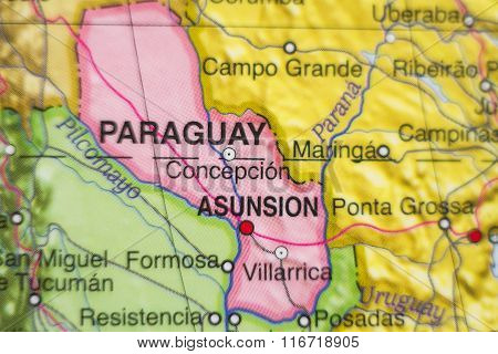 Republic Of Paraguay Country Map .