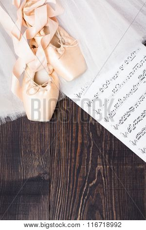 Ballet Shoes, Skirt And Music Sheet