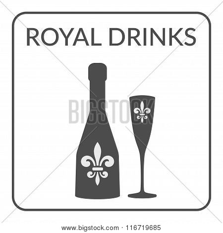 Royal Drinks Sign Wine Menu Design