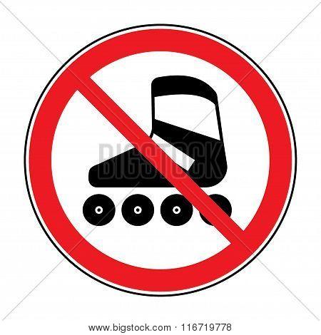 No Roller Sign
