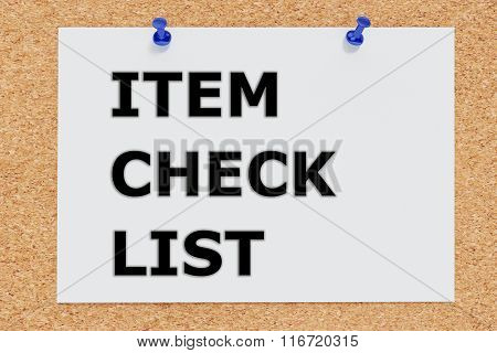 Item Check List Concept