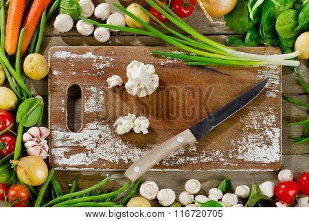 Raw Organic Vegetables.