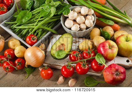 Fresh Healthy Organic Vegetables