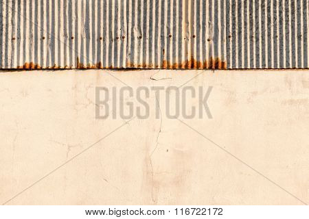 Old Metal And Concrete Wall