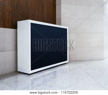 Mock Up Blank Light Box Screen Banner Display Indoor