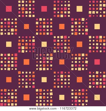 Seamless Square Pattern. Vector Vinous Background