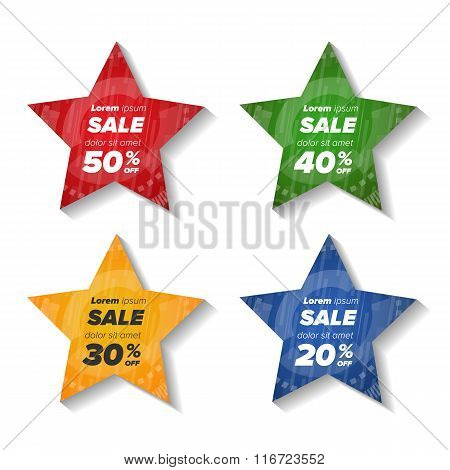 Summer sale star stickers