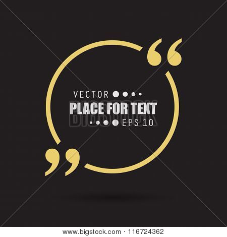 Abstract concept vector empty speech square quote text bubble. For web and mobile app isolated on ba