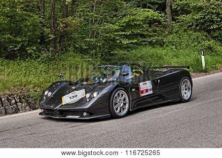 Supercar Pagani Zonda In Mille Miglia 2013