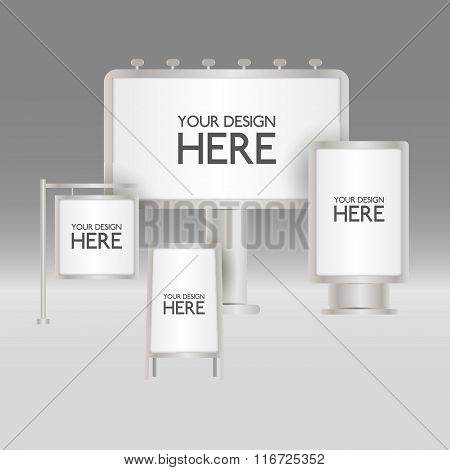 Blank sign boards
