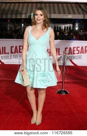 LOS ANGELES - FEB 1:  Carly Steel at the Hail, Caesar World Premiere at the Village Theater on February 1, 2016 in Westwood, CA