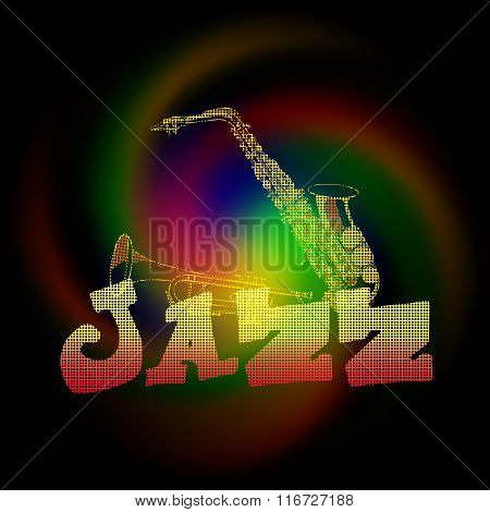 Jazz Music With Saxophone And Trumpet