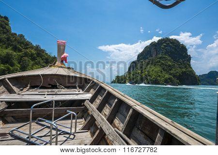 boat in Andaman sea, Krabi, Thailand