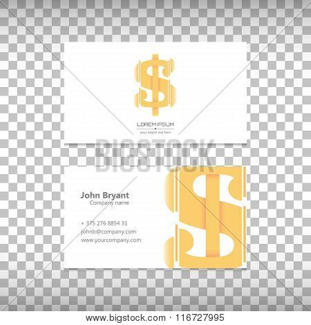 Creative concept vector icon of dollar for Web and Mobile Applications  isolated on white background