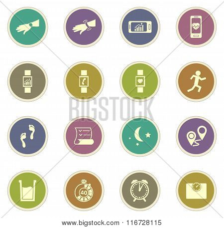 Jogging and workout icons