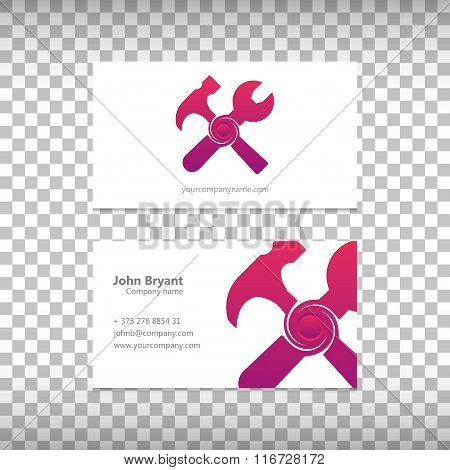 Abstract Creative concept vector icon of tools for Web and Mobile Applications isolated on backgroun