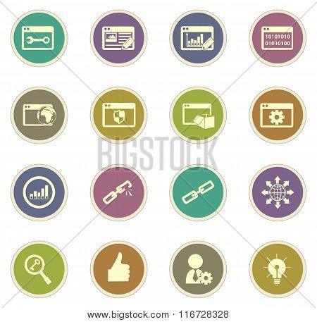 SEO and Development icons set