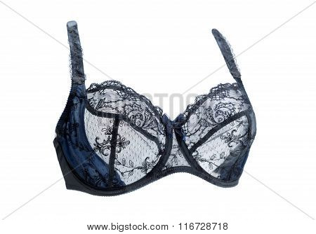 Blue Lace Bra. The Effect Of Volume.
