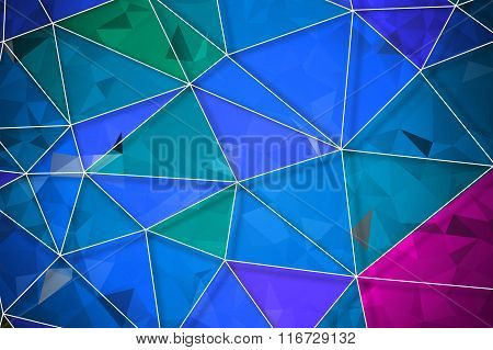 Colorful Geometric Rumpled Triangular Low Poly Origami Style Gradient Illustration With White Net Gr