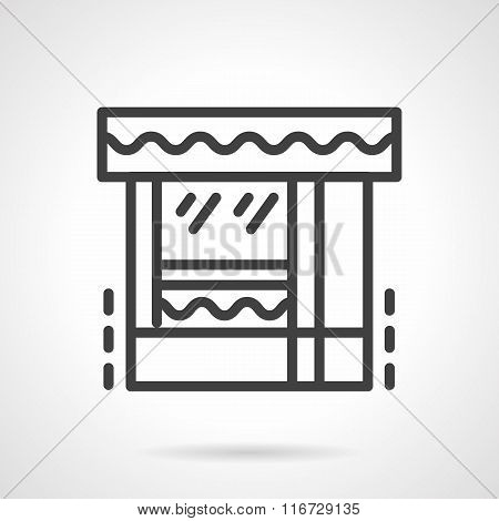 Butcher shop black line vector icon