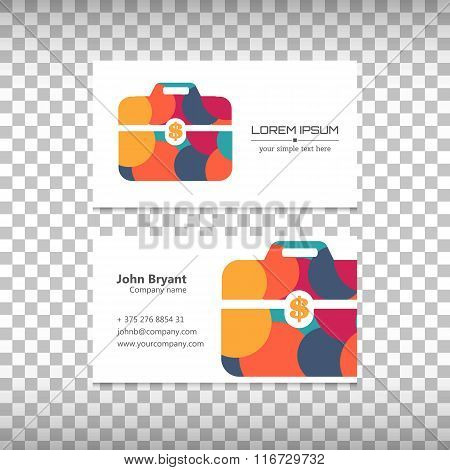 Abstract Creative concept vector image logo of briefcase for web and mobile applications isolated on
