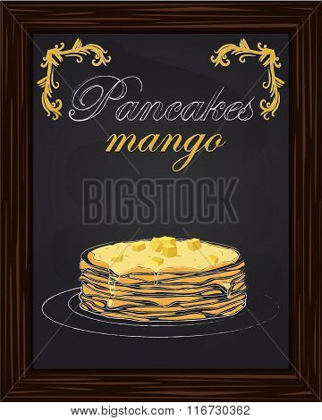 Pancakes With Mango And Jam On The Plate