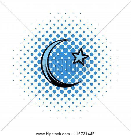 Muslim  symbol comics icon