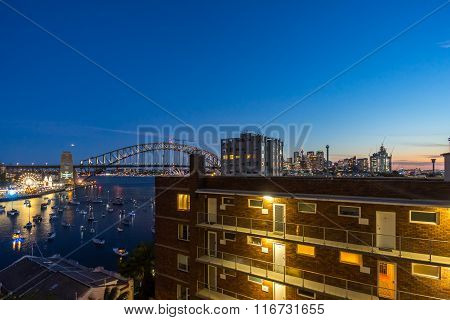 Sunset At Sydney Harbor Bridge