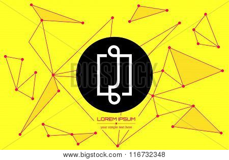 Abstract concept creative vector letter J. Colorful app logo icon element isolated on background. Ar
