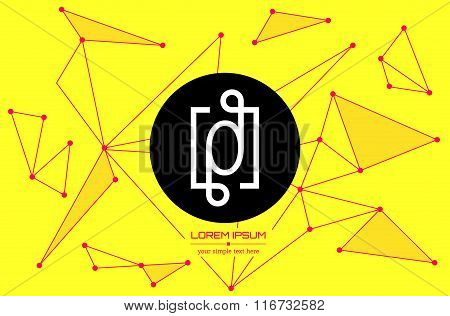 Abstract concept creative vector letter O. Colorful app logo icon element isolated on background. Ar