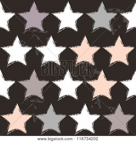 Seamless Stars Pattern Backgroun