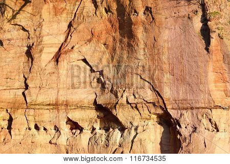Sandstone Cliffs In Gauja National Park, Latvia