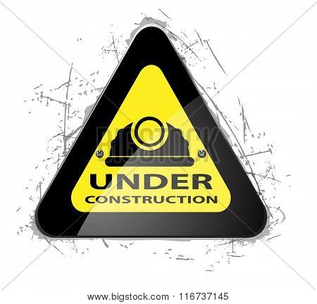 Road Yellow Construction icon