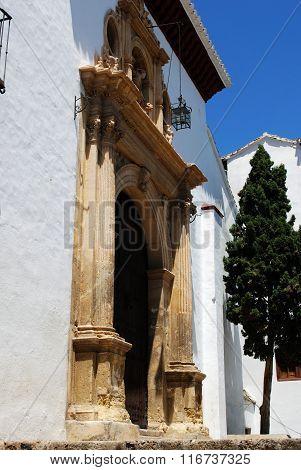 San Miguel church doorway, Granada.