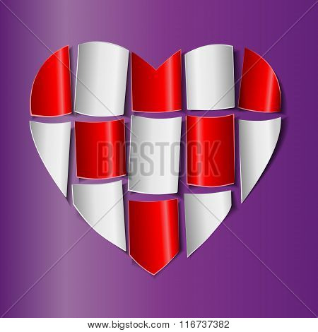 Symbol of love and Valentine's Day.