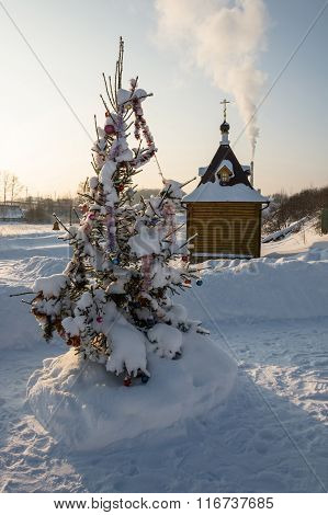 The Holy Source Of The Tikhvin Icon Of The Mother Of God.