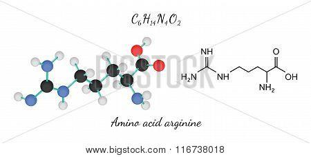 C6H14N4O2 amino acid Arginine molecule