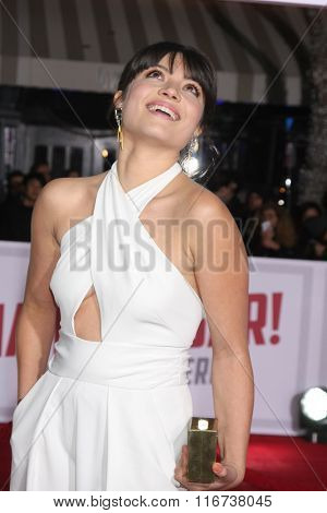 LOS ANGELES - FEB 1:  Veronica Osorio at the Hail, Caesar World Premiere at the Village Theater on February 1, 2016 in Westwood, CA