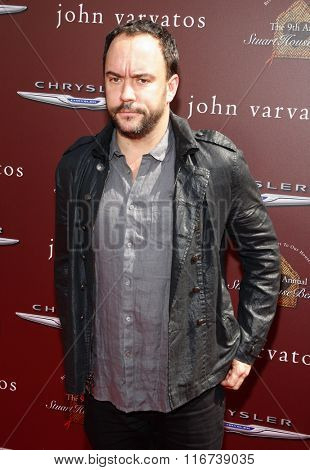 Dave Matthews at the John Varvatos 9th Annual Stuart House Benefit Presented By Chrysler And Hasbro held at the John Varvatos Boutique, California, United States on March 11, 2012.