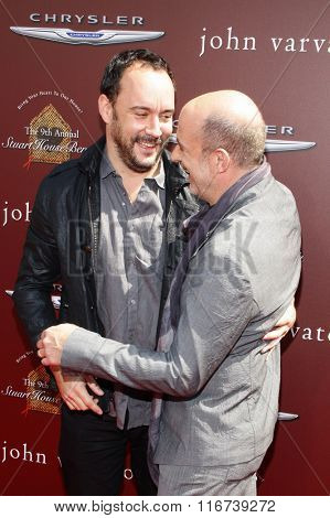 John Varvatos and Dave Matthews at the John Varvatos 9th Annual Stuart House Benefit Presented By Chrysler And Hasbro held at the John Varvatos Boutique, California, United States on March 11, 2012.