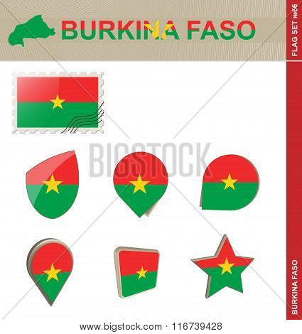 Burkina Faso Flag Set, Flag Set #66